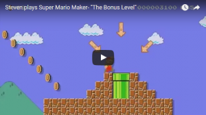 Video: Steven play's Super Mario Maker