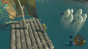 TLOZ - BotW Korok Guide - Stone Circle in Water